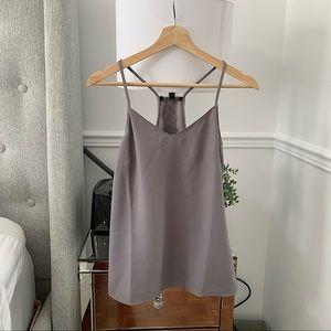 BANANA REPUBLIC | Grey satin V-neck camisole size XS